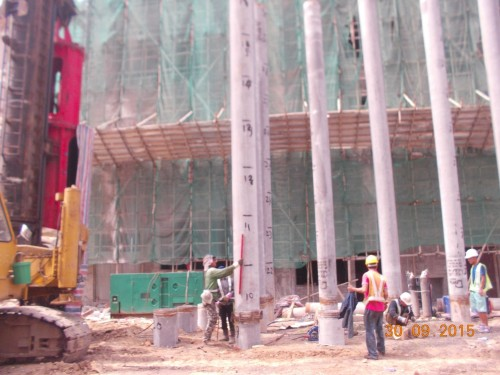 Pile cap construction, ELS works, construction of basement and other associated services such as con...